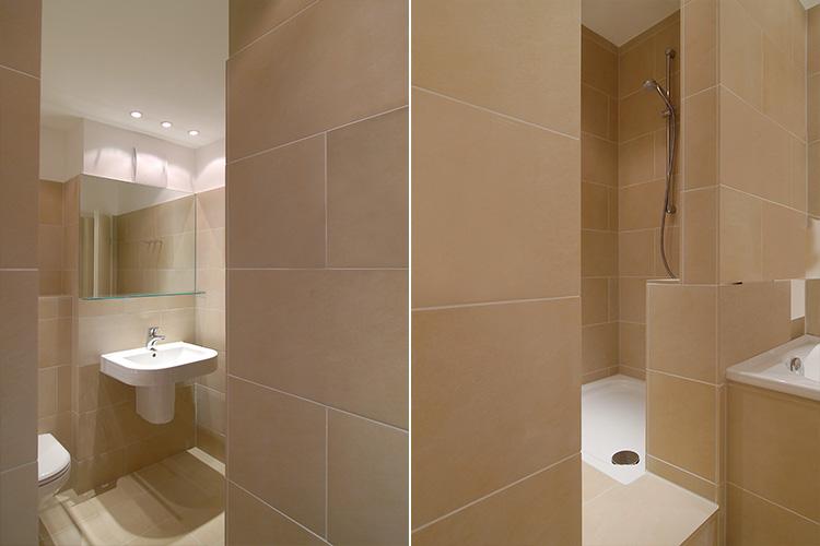 WohnungsModernisierung Badezimmer Mit Steinzeugfliesen In Düsseldorf